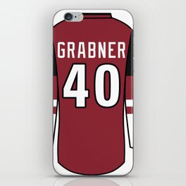 Michael Grabner Jersey iPhone Skin