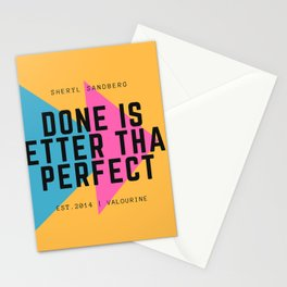 Sheryl Sandberg Done is Better Than Perfect Stationery Cards