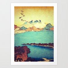 Upon Arrival at Dekijin Art Print