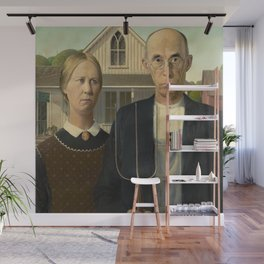 American Gothic by Grant Wood Wall Mural