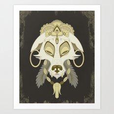 Canis Lupus: White Art Print