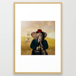 Mr. Preston J. Pachyderm visits the Sphinx Framed Art Print