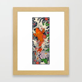 Art of Koi Fish Leggings Framed Art Print
