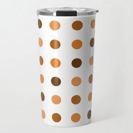 Polka Dots Pattern: Orange Travel Mug