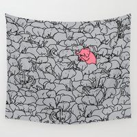 word Wall Tapestries featuring Word 2 the Herd v1 by Jonah Makes Artstuff