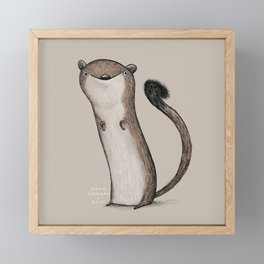 Weird Weasel Framed Mini Art Print