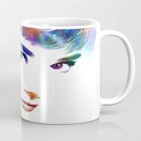 hepburn Mugs featuring Audrey Hepburn by Michael Akers