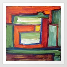 Abstract Oil Painting 29 Art Print