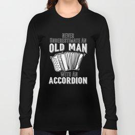 Accordion Concertina Melodeon Piano Accordion Gift Long Sleeve T-shirt
