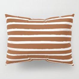 Autumn Orange x White Stripes Pillow Sham