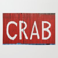 crab Area & Throw Rugs featuring Crab by Shy Photog