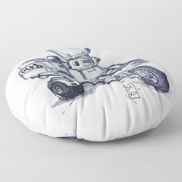 Honda delivery scooter japan Floor Pillow