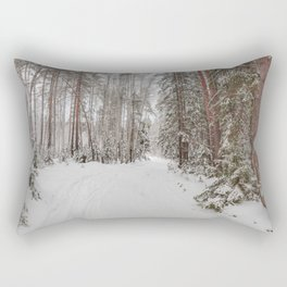 Snowy road Rectangular Pillow