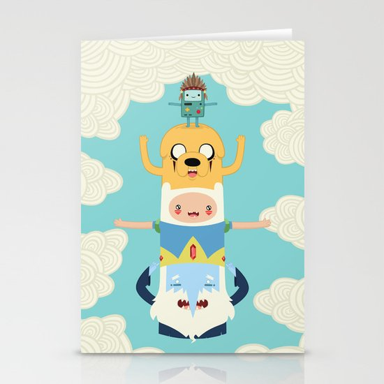 Adventure Totem Stationery Cards