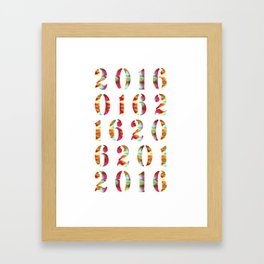 2016 Framed Art Print