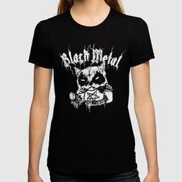 Grim Black Metal Corpse Paint Racoon! T-shirt