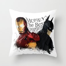Money: the best superpower Throw Pillow