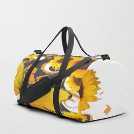 GOLDEN BUTTERFLY & SUNFLOWERS ARABESQUES Duffle Bag