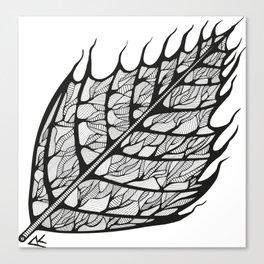 Blazing leaf Canvas Print