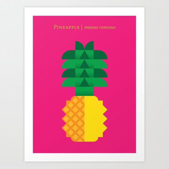 Fruit: Pineapple Art Print