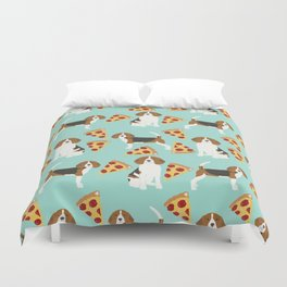 beagle pizza dog lover pet gifts cute beagles pure breeds Duvet Cover