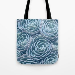 Blue and Green Succulent Tote Bag