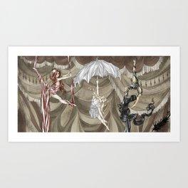 Midnight Circus: the Acrobats Art Print