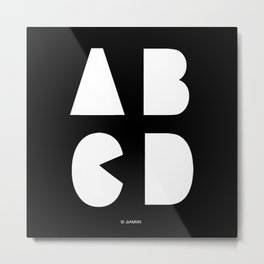 ABCD Metal Print