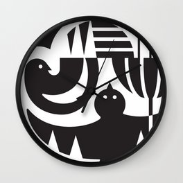 Birds in flight Wall Clock