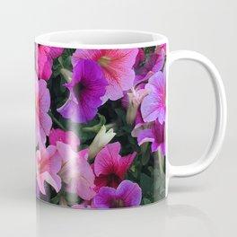 Pink, Red & Purple Petunia Flowers Sprinkled With Sunlight Coffee Mug