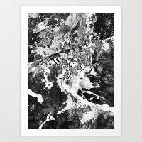 rorschach Art Prints featuring Rorschach by Alter Ego