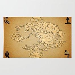 Avatar Last Airbender Map Rug