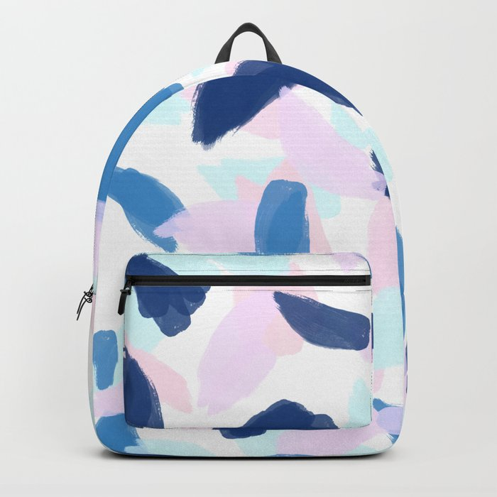 Blue and Pink Paint Backpack