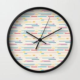 Morse Code Pastel Pattern Wall Clock