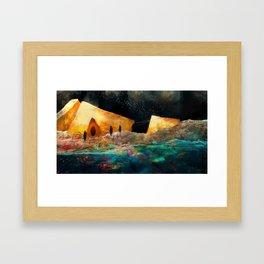 Sea of Colours Framed Art Print