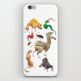 African animals 2 iPhone Skin