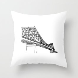 Montreal - Pont Jacques-C - Black Throw Pillow