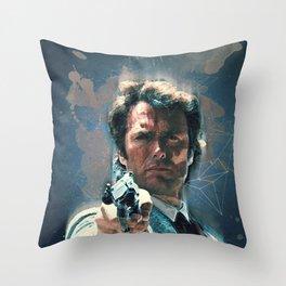 Dirty Harry vintage art Throw Pillow