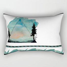 Watercolor Mountains Rectangular Pillow