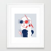 luna lovegood Framed Art Prints featuring Luna Lovegood by Julia Jolly Joules