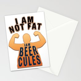 not fat - I love beer Stationery Cards