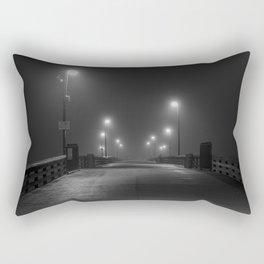 Newport Pier in Fog Rectangular Pillow