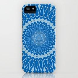 Electric Blue Lemonade and Aquamarine Duo Tone Mandala iPhone Case