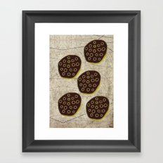 Black Lotus Framed Art Print