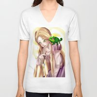 tangled V-neck T-shirts featuring Tangled !!  by Midnight Tardis