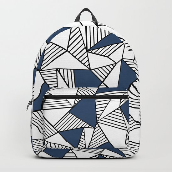 Abstraction Lines with Navy Blocks Backpack