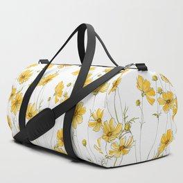 Yellow Cosmos Flowers Duffle Bag