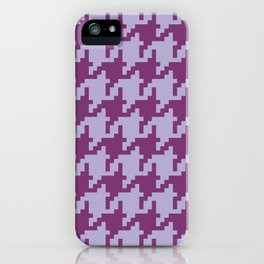 Houndstooth - Purple iPhone Case