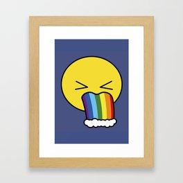 Puke Rainbow - Emoji Framed Art Print
