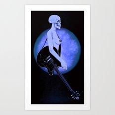 Skull Of Rock/Black Art Print